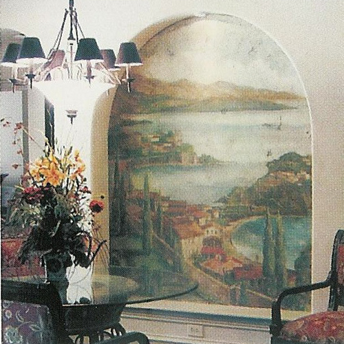 Sanders studio for Ceiling mural in a smoker s lounge